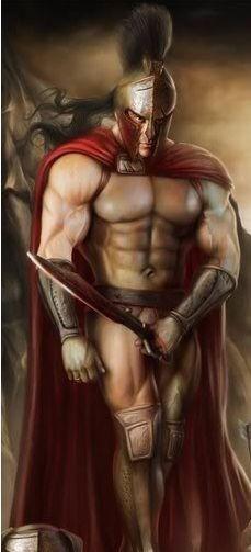 Spartan Warrior Art
