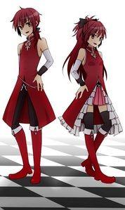 Puella Magi Madoka Magica - Kyouko and her genderbend version
