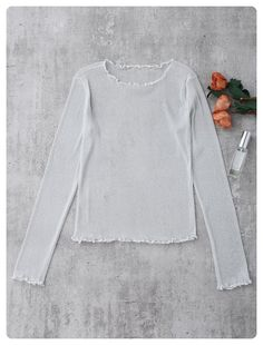 See Through Glittered Layering Top (White)