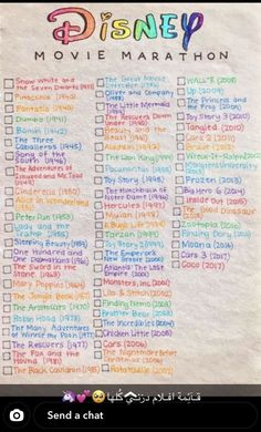 My Disney movie bucket list! You can find Disney movies and more on our website.My Disney movie bucket list! Bucket List Movie, Movie To Watch List, Disney Movies To Watch, Movie List, Disney Films List Of, Netflix Movies To Watch, Best Friend Bucket List, Friends List, Disney Movies By Year