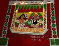 Special Rangoli, Lord Balaji, Rangoli Designs, Gingerbread, Colorful, Beautiful, Ginger Beard