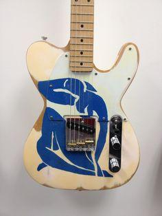 Fender Esquire Custom Modern Artist Series Henri Matisse Blue Nude