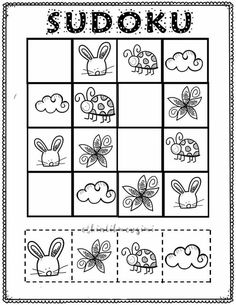 Sudoku Puzzles, Puzzles For Kids, Cute Powerpoint Templates, Felt Games, Educational Games For Kids, Preschool Worksheets, Diy For Kids, Elementary Schools, Coloring Pages