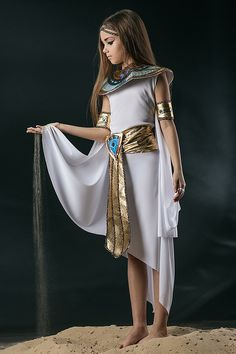 Amazon.com: Kids Girls Cleopatra Halloween Costume Egyptian Princess Dress Up & Role Play (3-6 years): Clothing