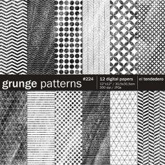 Grunge digital paper pack