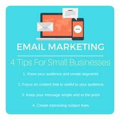 Email marketing is an inexpensive way to reach your target customer. Here are four simple tips that your small business can use to run a successful email marketing campaign.  Prefer to leave it to the professionals? BoBella offers customized email marketing packages. Contact us to learn more.
