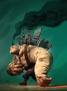 Une sélection des jolies créations de l'artisteChris Sickels et de sonRed Nose Studio. Spécialisé dans l'animation en stop motion et l'illustration 3D,