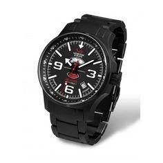 Reloj Negro muy eleagante con correa armis de Acero. Reloj marca Vostok Colección Expedition North Pole ¡Un reloj diferente y especial!  http://www.tutunca.es/reloj-de-pulsera-acero-pvd-negro-vostok-north-pole-automatico