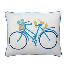 Kirklands Throw Pillow Covers : Gray and Aqua Floral Tile Throw Pillow Throw pillows