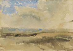Eugène Delacroix (1798 — 1863, France) landscape. sketch. watercolor Ferdinand-Victor-Eugène Delacroix