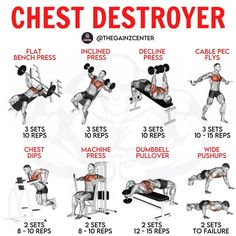 Chest And Tricep Workout, Arm Workout Men, Chest Workout For Men, Gym Workouts For Men, Full Body Workout Routine, Gym Workout Videos, Gym Workout For Beginners, Weight Training Workouts, Triceps Workout