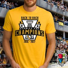 Pittsburgh Penguins Shirt | Stanley Cup Champions 2017 Shirt | Back to Back Stanley Cup Champions Shirt | Pittsburgh Tee | Men Women Tshirts by DCVisualArts on Etsy https://www.etsy.com/listing/536330397/pittsburgh-penguins-shirt-stanley-cup