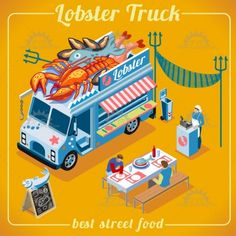 Food Truck 03 Vehicle Isometric