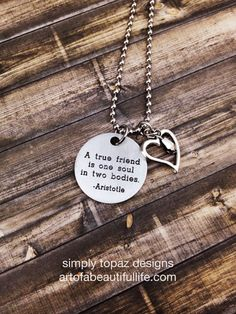 Best Friends Friendship Jewelry  A True Friend Is by simplytopaz