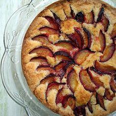 Fresh plum cake.