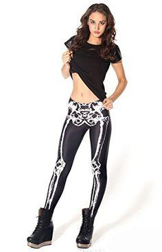 Ensasa Women'S Fashion Digital Print Black White Skeleton Spandex Leggings Ensasa http://www.amazon.com/dp/B00MQJTSKQ/ref=cm_sw_r_pi_dp_WYCrub0BW57GM