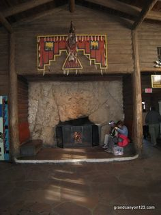 The fireplace at the Bright Angel Lodge is a friend to all travelers at Grand Canyon National Park. Days are started here. So are terrific memories...