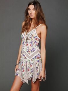 Free People In And Out Ditsy Florals Slip, $88.00