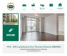 Don't Miss This Opportunity To Own A Rarely Available Bright And Spacious 1 Bedroom Unit With Eastern Exposure. Approx 600Sq Ft + 50Sq Ft Open Balcony With Unobstructed Views. Modern Kitchen Separated From The Living Room Space, With Granite Countertops. Lots Of Storage, Very Clean, Freshly Painted. Building Offers Lots Of Surface Visitor Parking. Steps To Ttc, Groceries And Shoppers. Easy Access To Bloor West And Downtown.