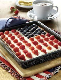 Genau das richtige Dessert für ein USA-Essen oder ein Kaffeetrinken: Rührkuchen mit leckerem Frosting und patriotischer Dekoration - dabei [...]