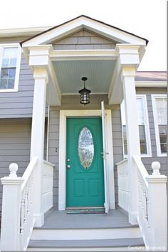 Pop of Color on the Front Door! - Southern Hospitality
