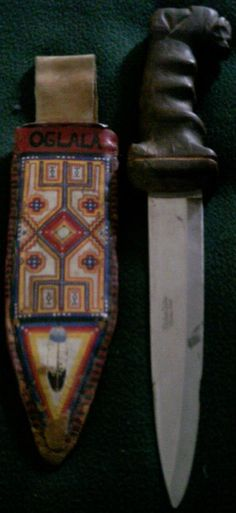 Oglala-Lakota parfleche knife More beautiful work at www.PrairieEdge.com