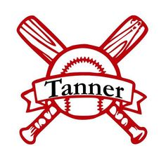 Baseball Decal w/ Name by GetPersonalizedEmb on Etsy