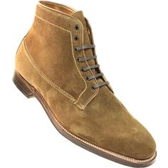 Alden Men's 7 Eyelet Demi Boot Plaza Last Snuff Suede Style #35902 | TheShoeMart