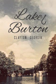 Lake Burton Poster by Texture Design Co