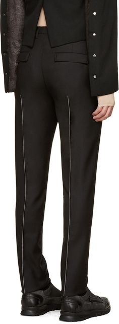 Maison Margiela - Black Contrast Seams Trousers http://www.99wtf.net/trends/jackets-urban-fashion-men/