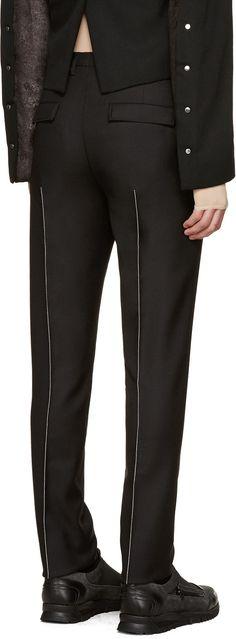 Maison Margiela - Black Contrast Seams Trousers http://www.99wtf.net/trends/jackets-urban-fashion-men/