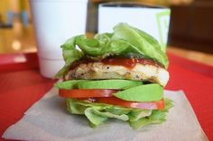 Behold a mouthwatering grilled chicken patty wedged in the middle of pickles tomatoes avocado and lettuce! Chef Michael Brannock of @pdqfreshfood says Swapping out your brioche bun with a lettuce wrap is an easy way to keep your sandwich low-carb while not compromising taste with the lettuce wrap adding a nice crunchy texture.  via WOMEN'S HEALTH MAGAZINE OFFICIAL INSTAGRAM - Celebrity  Fashion  Health  Advertising  Culture  Beauty  Editorial Photography  Magazine Covers  Supermodels  Runway…