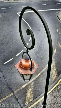 Old street light Cite de Carcassonne France