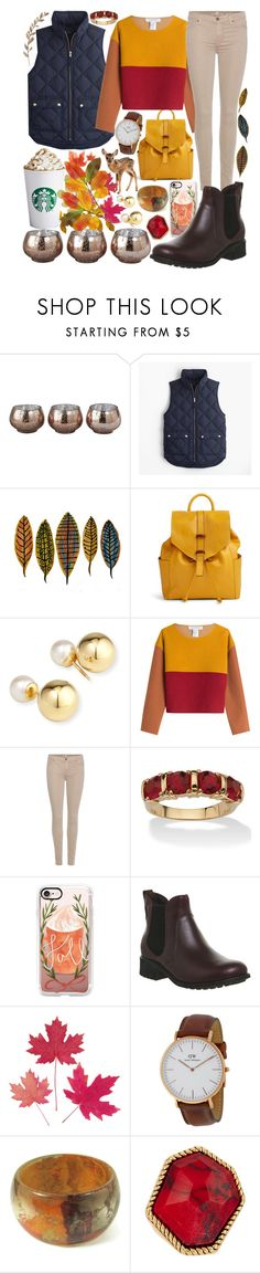 """Autumn is coming"" by sweetblackheart ❤ liked on Polyvore featuring J.Crew, Vera Bradley, Yoko London, Philosophy di Lorenzo Serafini, 7 For All Mankind, Palm Beach Jewelry, Casetify, UGG, Daniel Wellington and Diane Von Furstenberg"