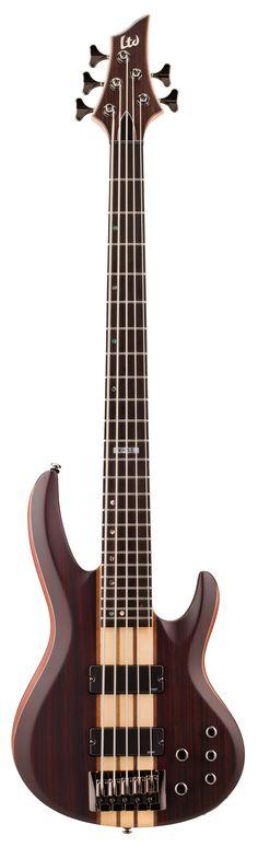 ESP LTD B-5E B Series Bass Guitar - Natural Satin Finish