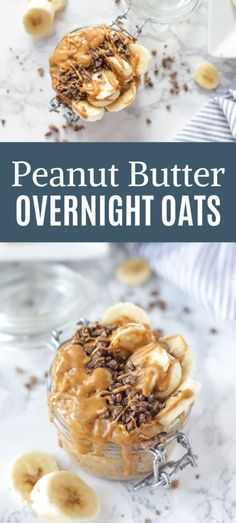 Peanut Butter Overnight Oats recipe is a simple and easy breakfast perfect for busy mornings. Prepare at night and it is ready to grab and go in the morning. Gluten Free Meal Plan, Gluten Free Oats, Gluten Free Recipes, Healthy Recipes On A Budget, Real Food Recipes, Brunch Recipes, Breakfast Recipes, Making Peanut Butter, Peanut Butter Overnight Oats