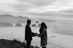 cannon beach proposal photographer, engagement photos with haystack rock at the oregon coast Beach Proposal, Ecola State Park, Proposal Photographer, Cannon Beach, Oregon Coast, State Parks, Engagement Photos, Romantic, In This Moment