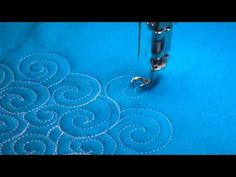Free-Motion Quilting Ideas: Closed Swirls - YouTube