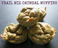 TRAIL MIX OATMEAL MUFFINS - gluten free, oil free and sugar free