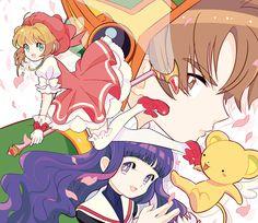 Cardcaptor Sakura   CLAMP   Madhouse / Kinomoto Sakura, Daidouji Tomoyo, Keroberos (Kero-chan), and Li Shaoran / 「CCさくら中学生編(妄想)」/「柳原ゆめ」のイラスト [pixiv] [07]