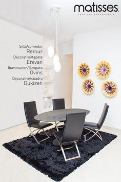 Experiencia Matisses: Si no quieres recargar visualmente el comedor del hogar, basta con incluir un aplique de pared o cuadro que combine con el estilo usado en esta estancia.