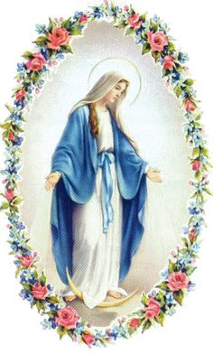 Blessed Mother, pray for us. Click Picture to see Second Page Mother Mary Images, Images Of Mary, Blessed Mother Mary, Blessed Virgin Mary, Rosary Prayer, Jesus Christ Images, Mama Mary, Religious Art, Beautiful Roses