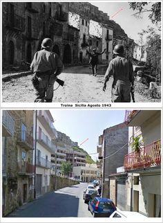 Soldati U.S.A entrano in Troina Sicilia  #Agosto1943