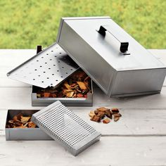 Stainless-Steel Smoker Box #FathersDay
