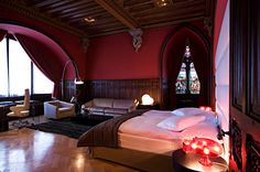 Suite Chevalier at Château d'Ouchy - Lausanne Lausanne, Molton Brown, Wooden Ceilings, Extra Bed, Brown Bathroom, Lake Geneva, Surface Area, Stained Glass Windows, Free Wifi