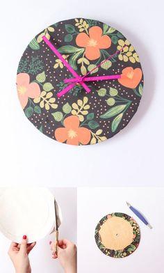 Reloj casero hecho con tela