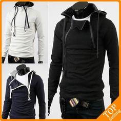 zipper design hoodies for men