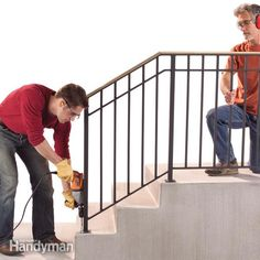 Safety First: Install an Outdoor Stair Railing Replace a wobbly old outdoor handrail with a rock solid one. We show you how to design and attach an outdoor stair railing to your steps.