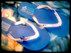 Colon Cancer Fancy Flip Flops by fancyflop on Etsy, $38.00