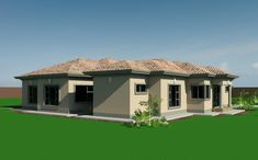 Home Design Plans, Plan Design, Single Storey House Plans, Tuscan House Plans, House Plans South Africa, Hut House, African House, Free House Plans, House Plans With Photos